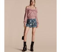 Shorts Im Pyjamastil Aus Baumwolle Mit Floralem Druck