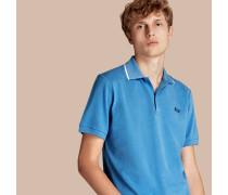 Poloshirt aus Baumwollpiqué mit Streifen