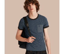 T-Shirt aus Baumwolle mit Paisley-Muster