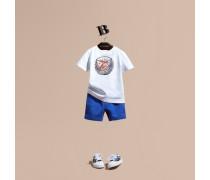 Shorts aus Baumwolljersey mit Zugbandverschluss