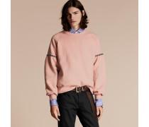 Sweatshirt aus einer Baumwollmischung mit Glockenärmeln