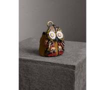 The Owl - Münzbörse aus Leder und Natternleder