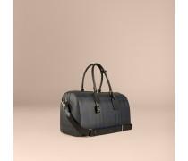 Reisetasche in Smoked Check mit Lederbesatz