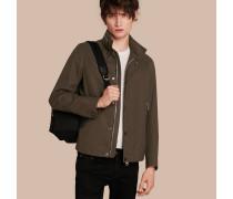 Jacke aus Baumwollgabardine mit packbarer Kapuze