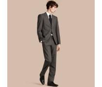 Modern geschnittener Anzug aus Wolle und Kaschmir mit Micro Check-Muster