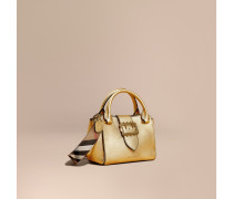The Small Buckle Tote aus Metallic-Leder