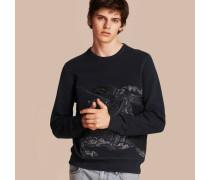Sweatshirt aus einer Baumwollmischung mit Ritteremblem