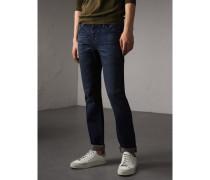 Gerade geschnittene Jeans aus gebürstetem Denim