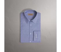 Modern geschnittenes Baumwollhemd mit Karomuster