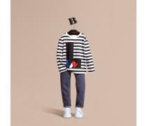 Langärmeliges T-shirt Aus Baumwolle Mit London-motiv