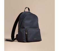 Rucksack aus Nylon mit Lederbesatz