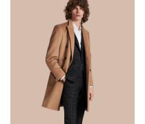 Zweireihiger Mantel aus Wolle und Kaschmir