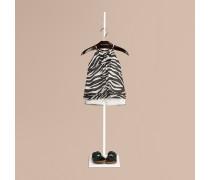 Oberteil aus Baumwolle in Animal Print mit Biesendetail
