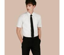 Körperbetontes Hemd aus Stretchbaumwolle mit kurzen Ärmeln