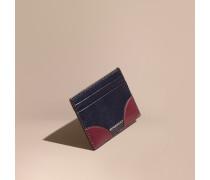 Kartenetui aus London-Leder mit Kontrastdetail
