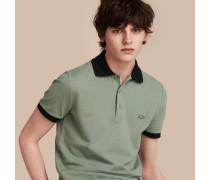 Poloshirt Aus Baumwollpiqué Mit Kontrastbesatz