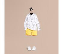 Hemd aus Baumwolle mit Regenschirmmotiv und Button-down-Kragen