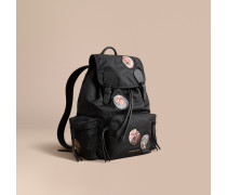"The Large Rucksack aus Nylon mit ""Pallas Heads""-Applikationen"