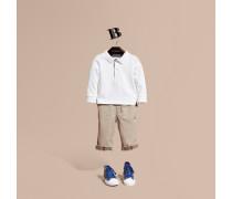 Langärmeliges Poloshirt Aus Baumwolle Mit Check-besatz