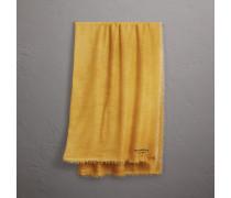 Schal aus Kaschmir und Baumwolle mit Stickerei