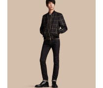 Körperbetonte Jeans aus japanischem Selvedge-Stretchdenim