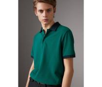 Poloshirt aus Baumwollpiqué mit Strickdetail