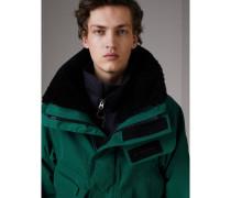 Jacke aus Kaschmir mit abnehmbarem Lammfellkragen und Innenjacke