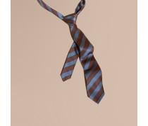 Schmal geschnittene Krawatte aus Seide und Baumwolle mit Pyjamastreifenmuster
