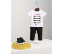 Baumwoll-T-Shirt mit Parade-Druckmotiv