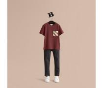Baumwoll-T-Shirt mit Karotasche