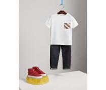 Langärmeliges Baumwoll-Shirt mit Karotasche