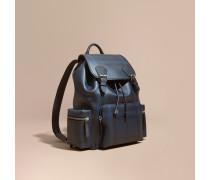 The Large Rucksack aus London Check-Gewebe und Leder