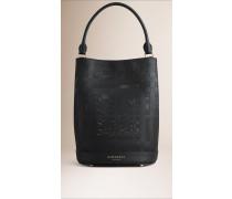 Die Tasche Burberry Bucket Aus Perforiertem Leder