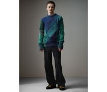 Pullover aus Kaschmir und Wolle mit Mouliné-Effekt im Patchworkdesign