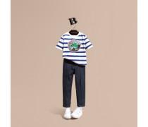 Körperbetonte Hose aus Stretchbaumwolle