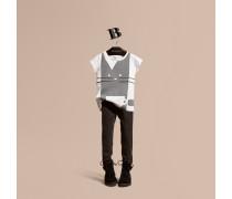Baumwoll-t-shirt Mit Grafischem Katzen-druckmotiv