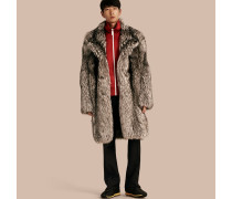 Mantel aus Fuchspelz