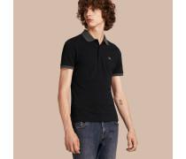 Poloshirt aus Baumwollpiqué mit Detail in Kontrastfarbe