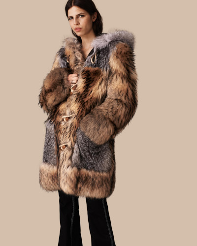 burberry damen extragro er dufflecoat aus enokpelz reduziert. Black Bedroom Furniture Sets. Home Design Ideas