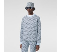 Oversize-Sweatshirt mit Monogrammmuster