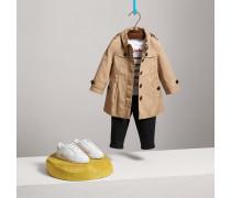 Einreihiger Trenchcoat aus Baumwolle