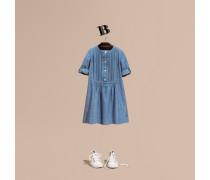 Kleid aus Chambray-Baumwolle mit Biesendetail