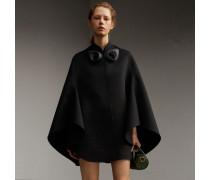 Cape im Military-Stil aus doppelseitig gewebter Wolle