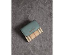 Brieftasche aus Leder und Haymarket Check-Gewebe