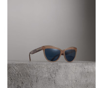 Cat-Eye-Sonnenbrille mit Doodle-Motiv