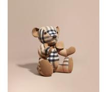 Großer Teddybär-Anhänger aus Kaschmir mit Check-Muster
