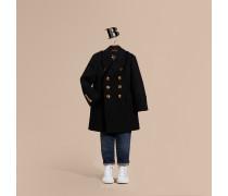 Körperbetonter Mantel aus einer Mischung aus Wolle und Kaschmir mit gewölbten Knöpfen