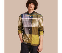 Baumwollhemd mit grafischem Schottenmuster