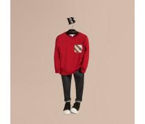 Langärmliges T-shirt Mit Check-tasche