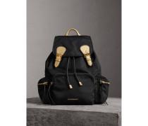 The Large Rucksack aus Nylon und Leder